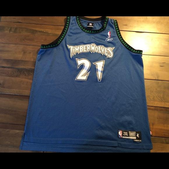 buy online ab5b2 622fb Kevin Garnett timberwolves Reebok Jersey
